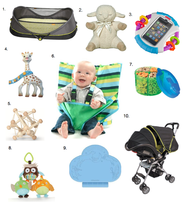 best products for travel with an infant, baby or toddler