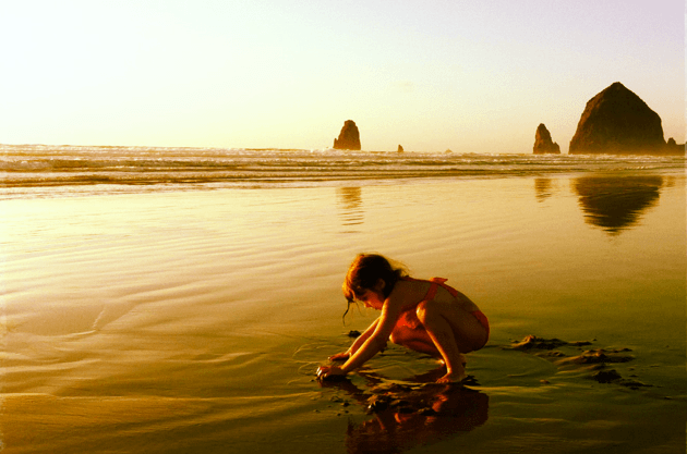 Cannon Beach Oregon with babies, toddlers and kids