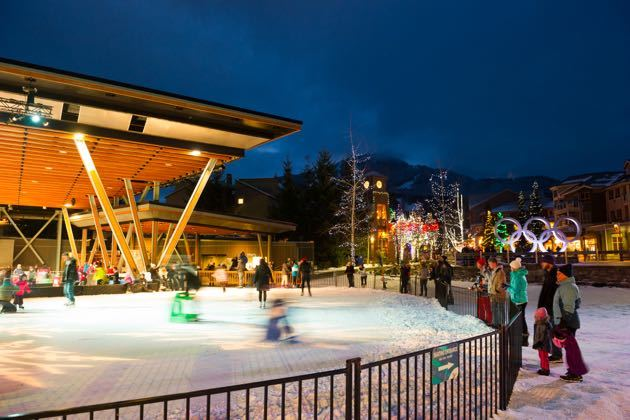 Skating in Whistler Village