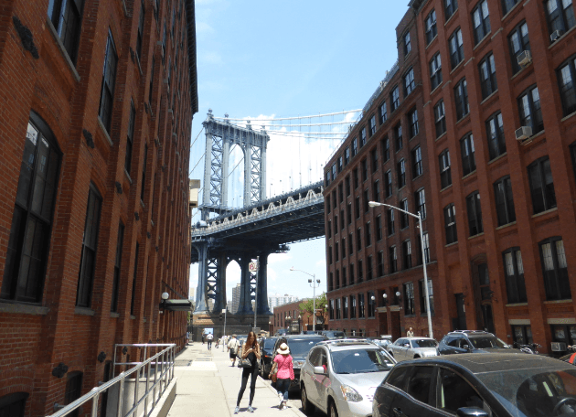 View of Manhattan Bridge from DUMBO Brooklyn
