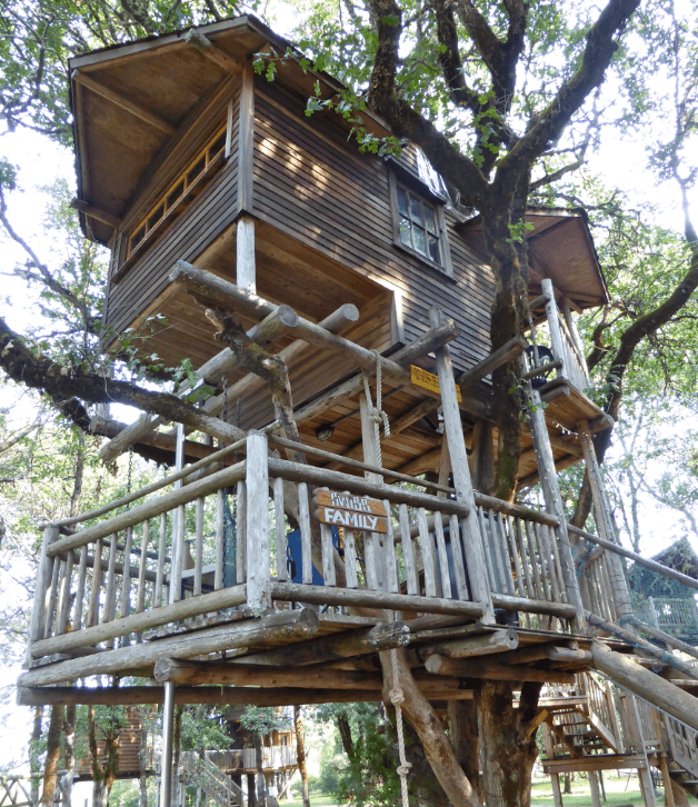 family-friendly tree house resort in oregon