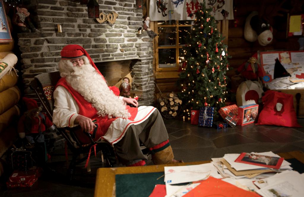 Santa at the Arctic Circle