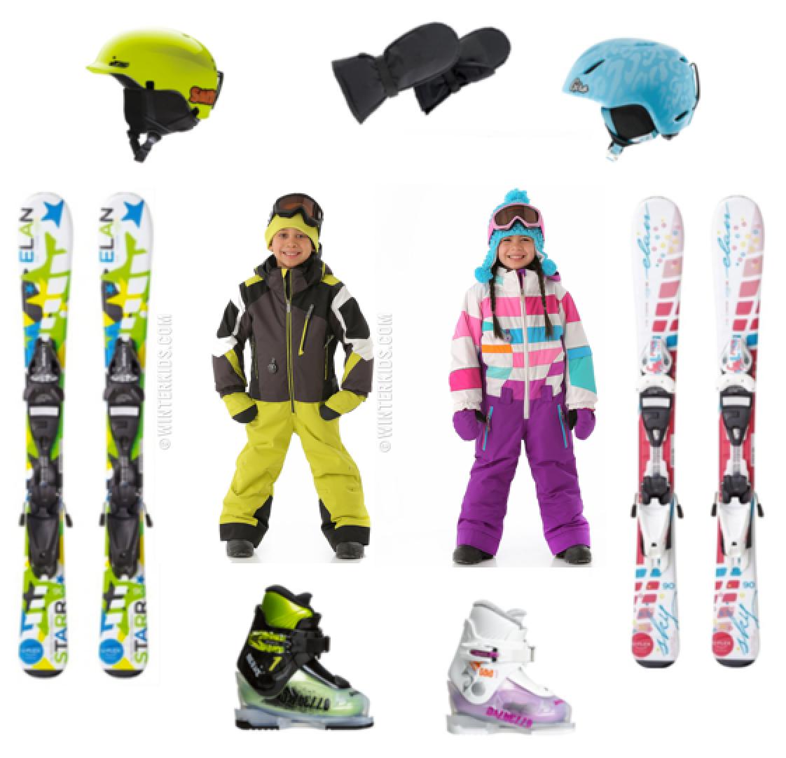 Cute Kids Ski Snow Gear Season