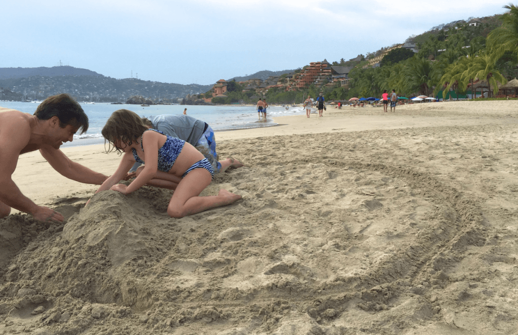 Best Beach for Kids Zihuatanejo