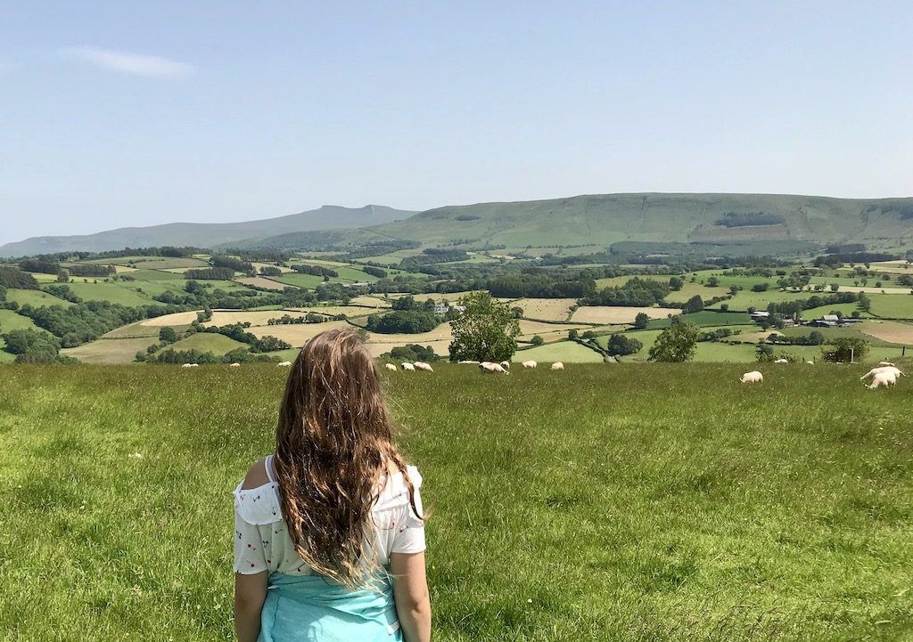 View of Brecon Beacons National Park