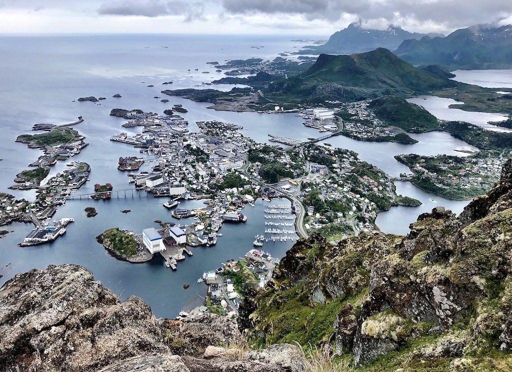 View of Svolvær from Fløya