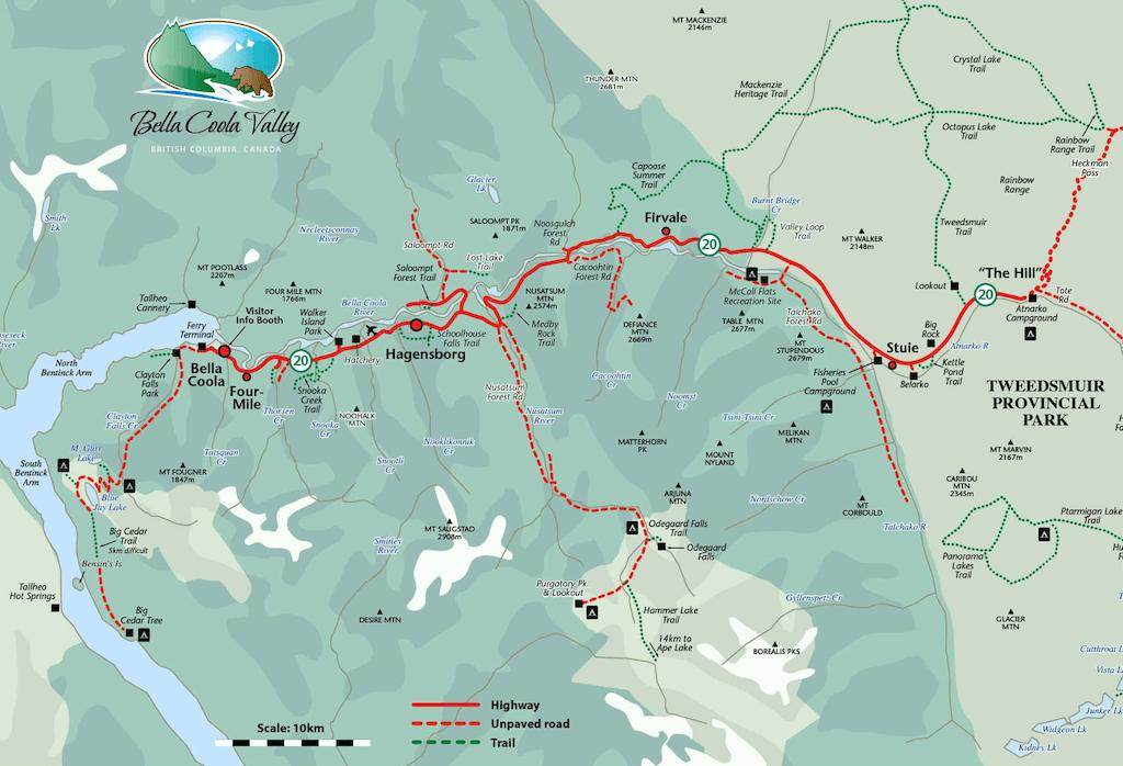 Bella Coola Map